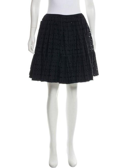 Alaïa Pleated Wool Skirt Black