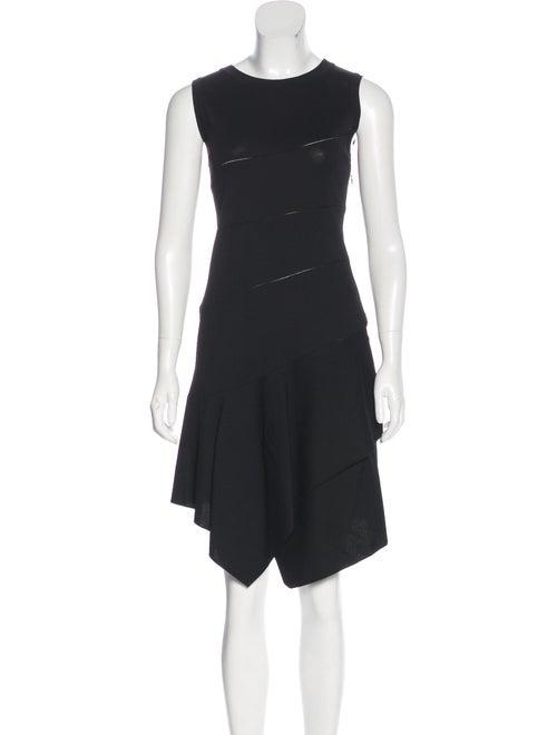 Alaïa Tiered Midi Dress Black
