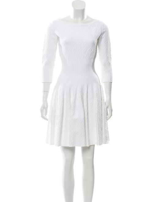 Alaïa Fit and Flare Mini Dress White