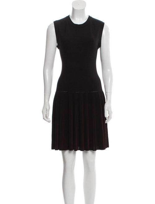 Alaïa Wool Fit and Flare Dress Black