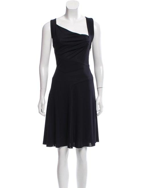 Alaïa Fit and Flare Sleeveless Dress blue