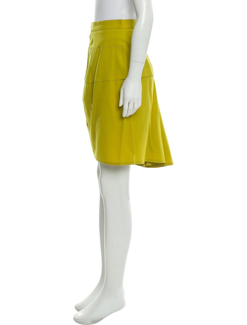 Alaïa Wool Knee-Length Skirt Chartreuse - image 2
