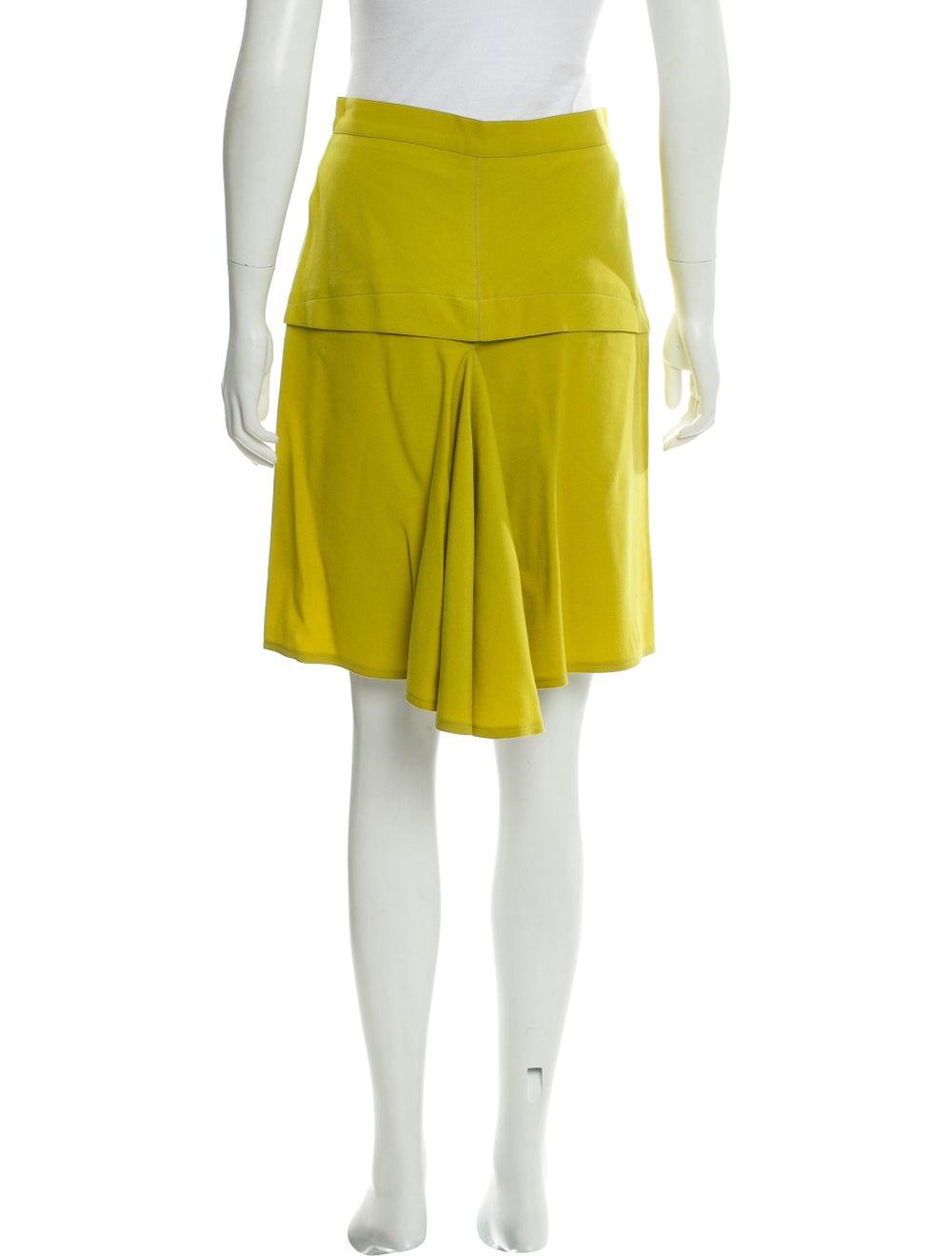 Alaïa Wool Knee-Length Skirt Chartreuse - image 3