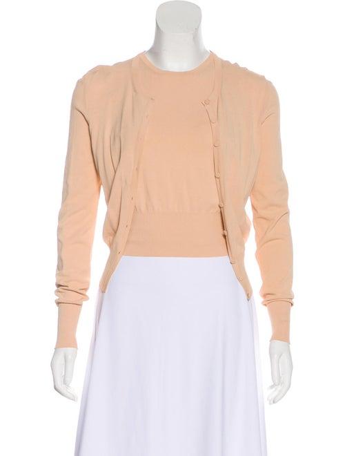 Alaïa Lightweight Knit Cardigan Set Pink