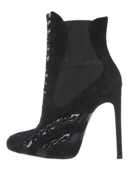 Alaïa Suede Ankle Boots Black