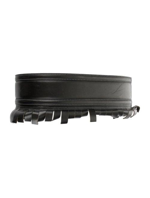 Alaïa Leather Waist Belt Navy