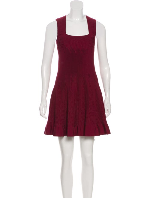 Alaïa Square Neck Mini Dress