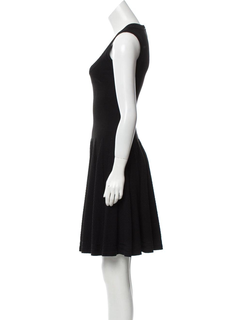 Alaïa Fit and Flare Dress Black - image 2
