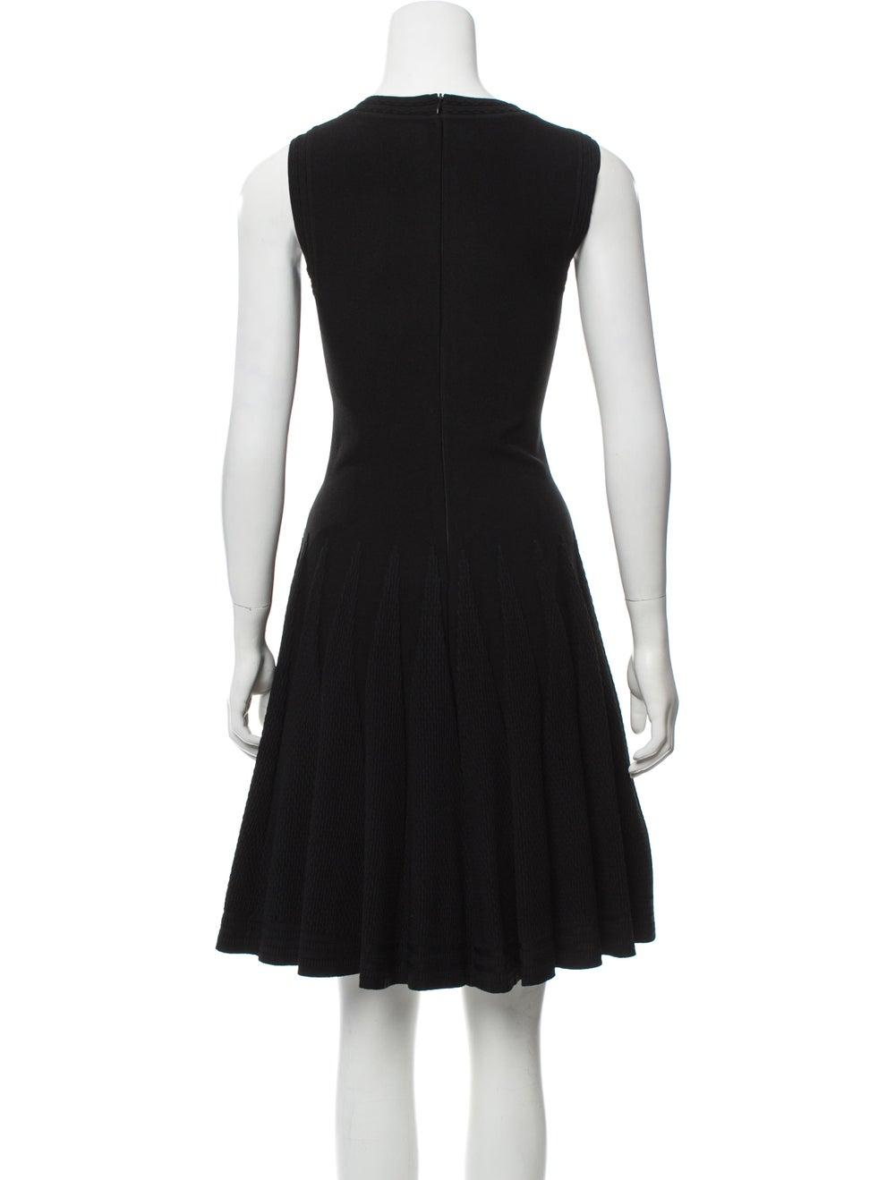 Alaïa Fit and Flare Dress Black - image 3