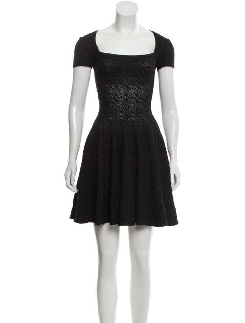 Alaïa Fit and Flare Mini Dress Black
