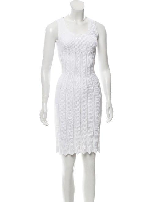 Alaïa Sleeveless Sheath Dress White