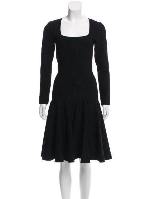 Alaïa Knee-Length Flared Dress Black