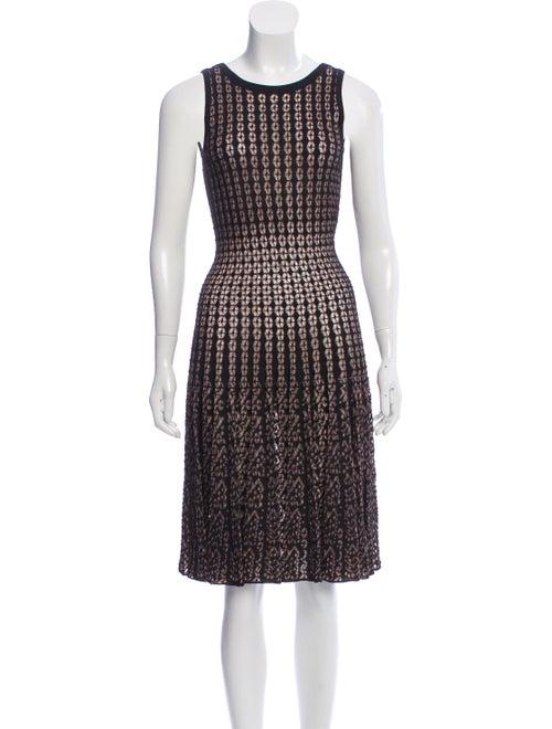 Alaïa Semi-Sheer Pleated Dress Black