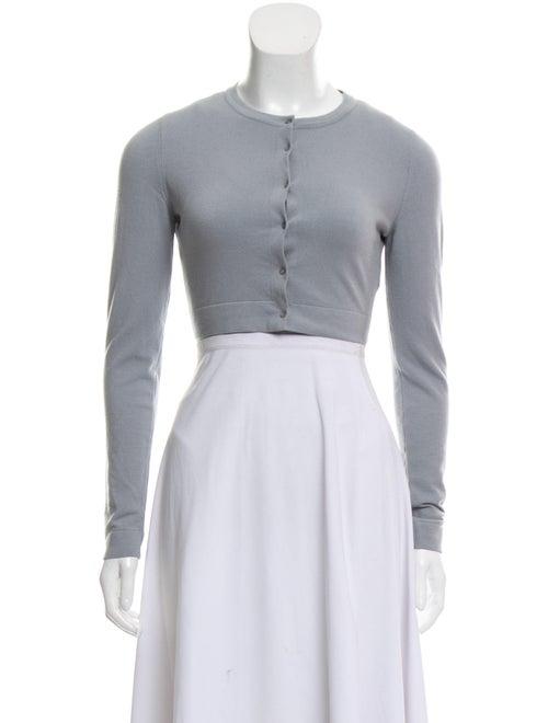 Alaïa Wool Cropped Cardigan Grey