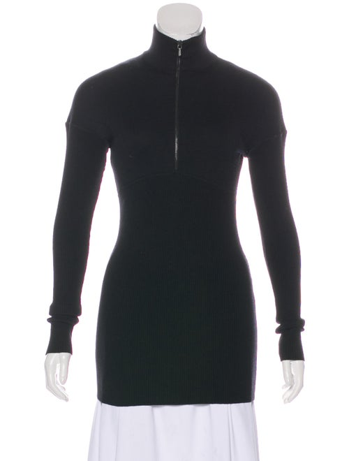 Alaïa Long Sleeve Turtleneck Top Black