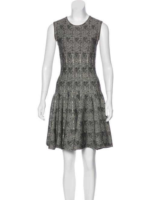Alaïa Fit and Flare Dress Black - image 1