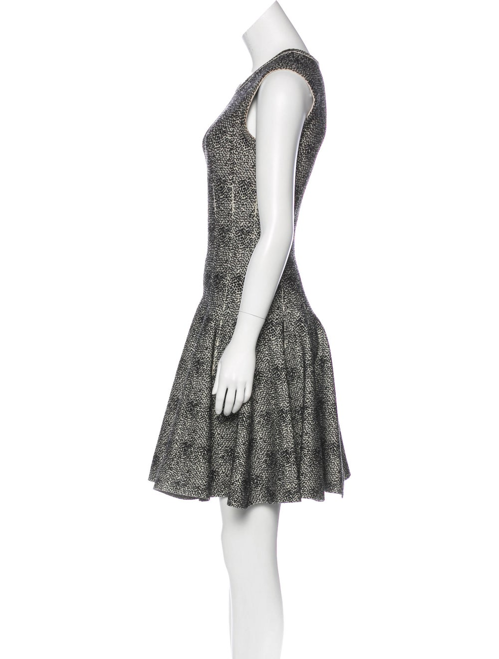 Alaïa Fit and Flare Dress Black - image 2