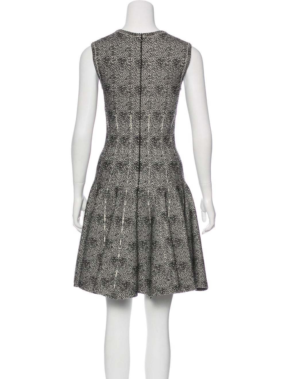 Alaïa Fit and Flare Dress Black - image 3