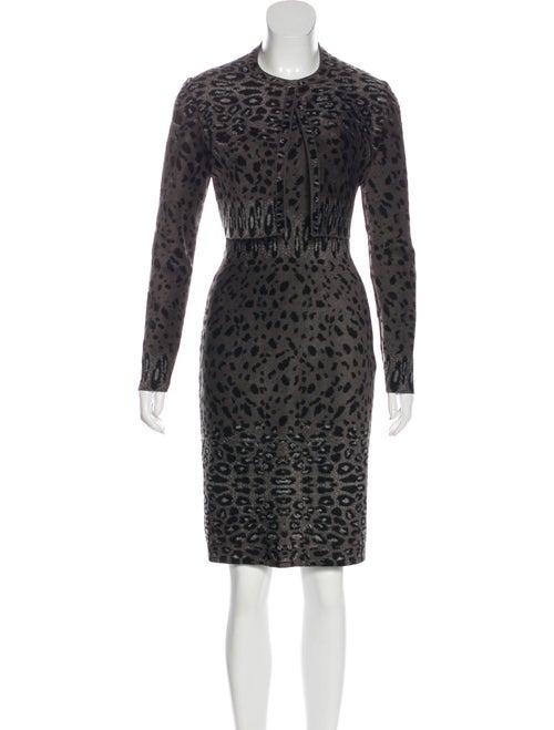 Alaïa Cheetah Print Dress Set grey