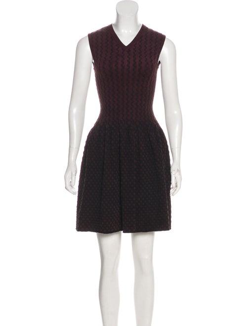 Alaïa Fit & Flared Mini Dress Plum