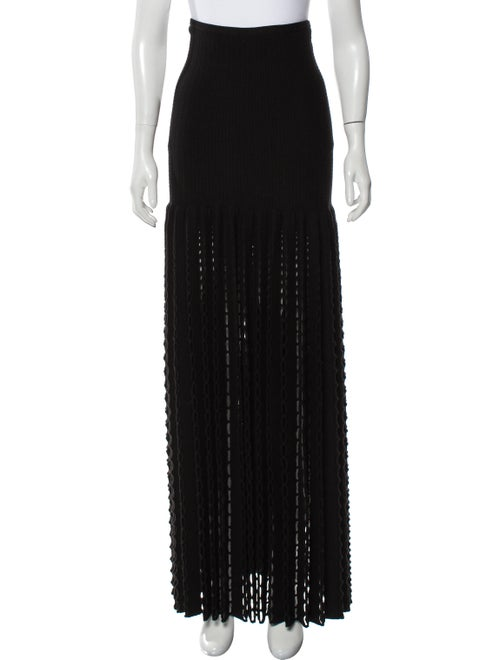 Alaïa Virgin Wool Maxi Skirt Black