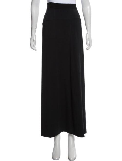 Alaïa Fit and Flare Maxi Skirt Black