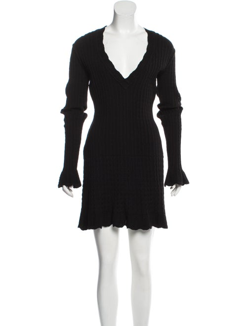 Alaïa Virgin Wool Sweater Dress Black