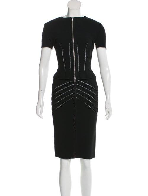Alaïa Short Sleeve Skirt Set Black