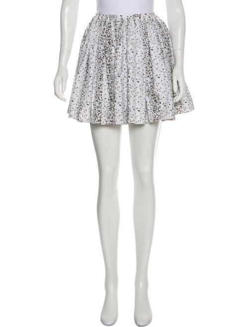 Alaïa Printed Mini Skirt White
