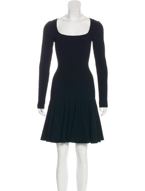Alaïa Knit Mini Dress Black