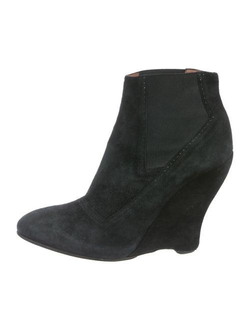 Alaïa Suede Wedge Booties Black