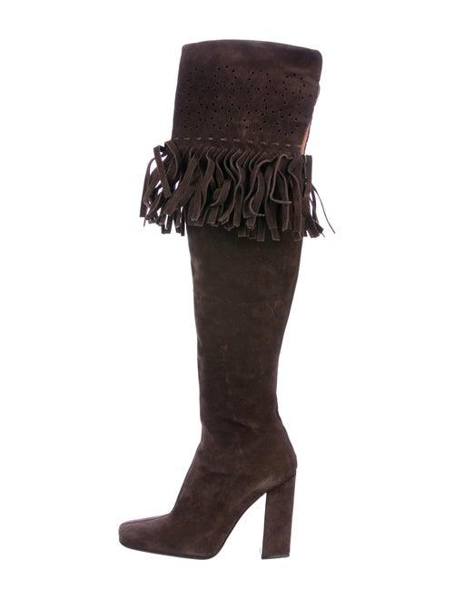 Alaïa Fringe Over-The-Knee Boots