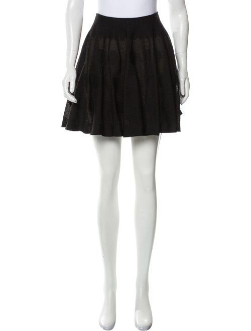 Alaïa Polka Dot Mini Skirt Black