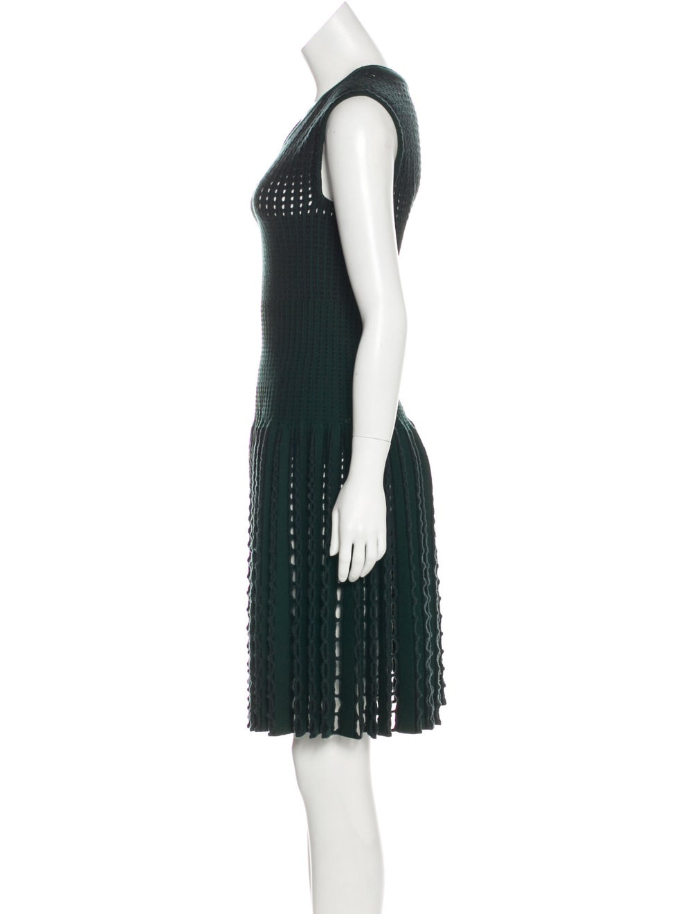 Alaïa Wool Open Knit Dress green - image 2