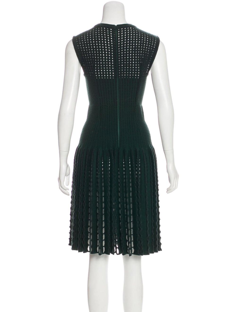 Alaïa Wool Open Knit Dress green - image 3