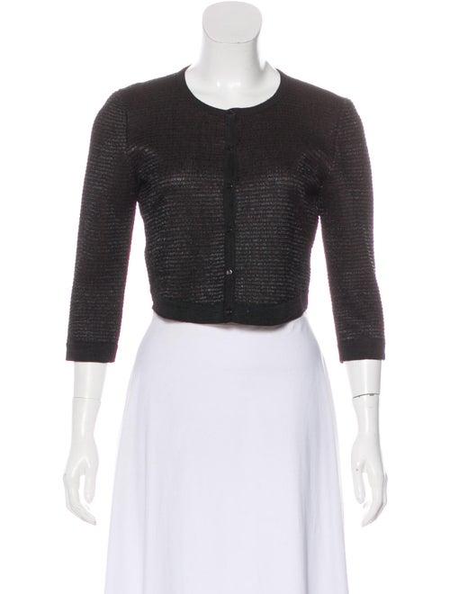 Alaïa Cropped Knit Cardigan Brown