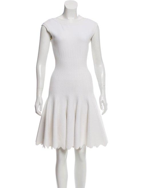 Alaïa Sleeveless Mini Dress White