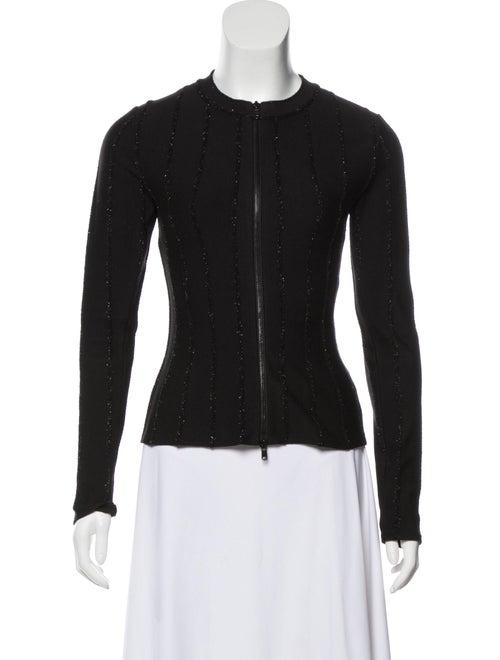 Alaïa Textured Knit Jacket Black