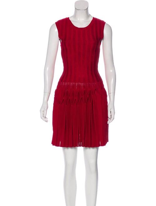 Alaïa Fit and Flare Mini Dress Red