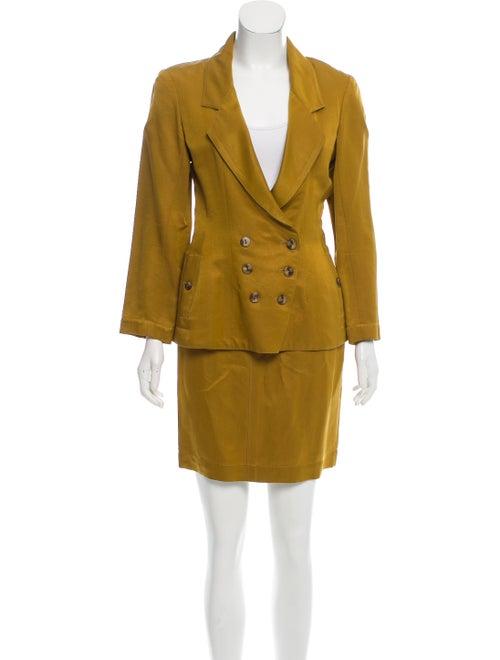 Alaïa Skirt Suit Yellow