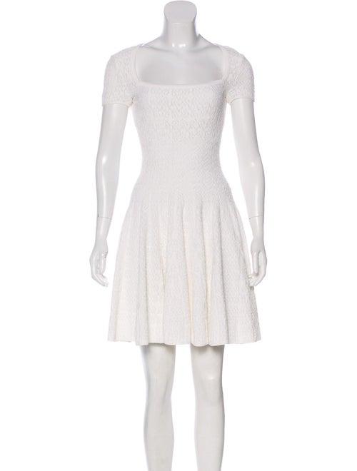 Alaïa Fit & Flare Knit Dress