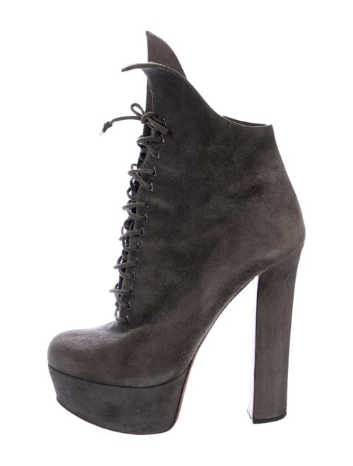 Alaïa Platform Ankle Boots Grey