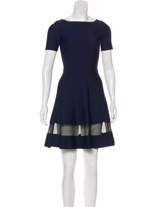 Alaïa Knit A-Line Dress Navy
