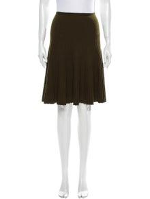 Alaïa Pleated Accents Knee-Length Skirt