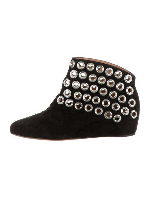 Alaïa Suede Ankle Booties Black