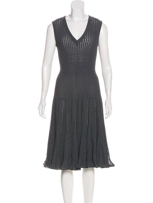Alaïa Vintage Fit and Flare Dress Blue