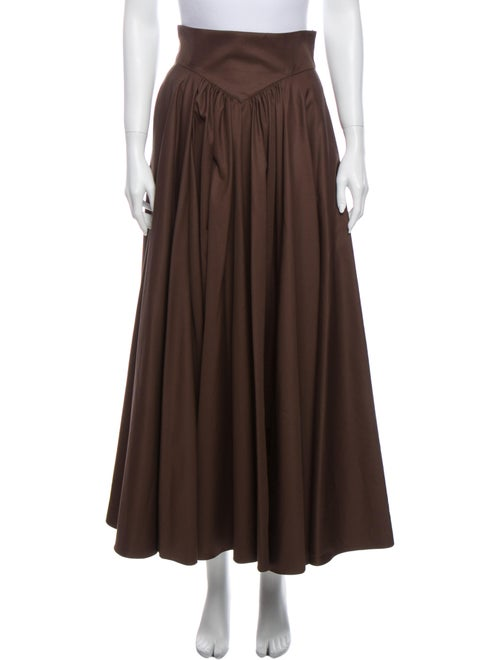 Alaïa Gabardine Midi Length Skirt w/ Tags Brown