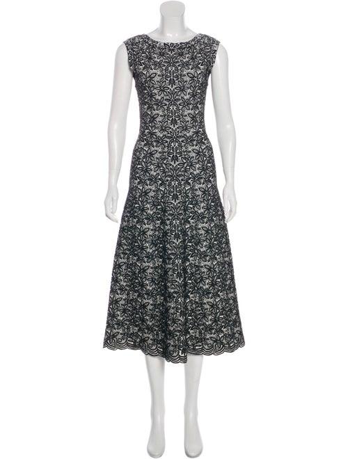 Alaïa Intarsia Knit Dress White