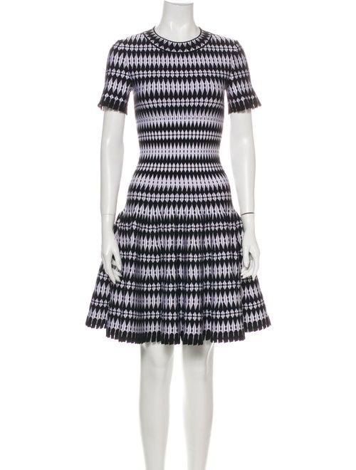 Alaïa Striped Mini Dress White