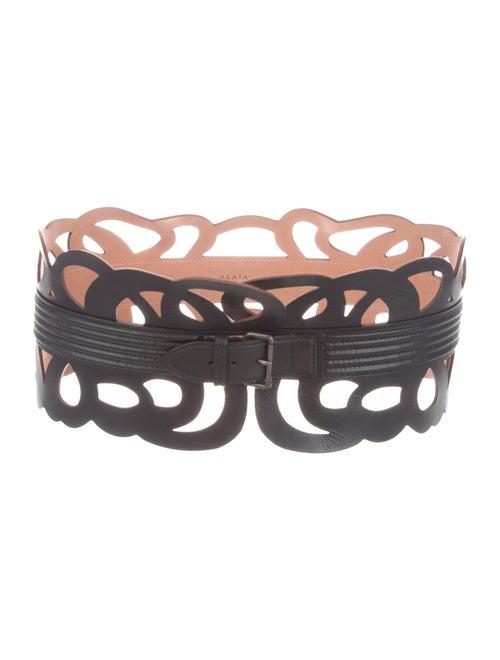 Alaïa Leather Waist Belt Black - image 1